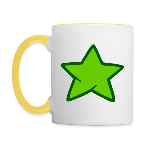 Estrella verde - Taza en dos colores