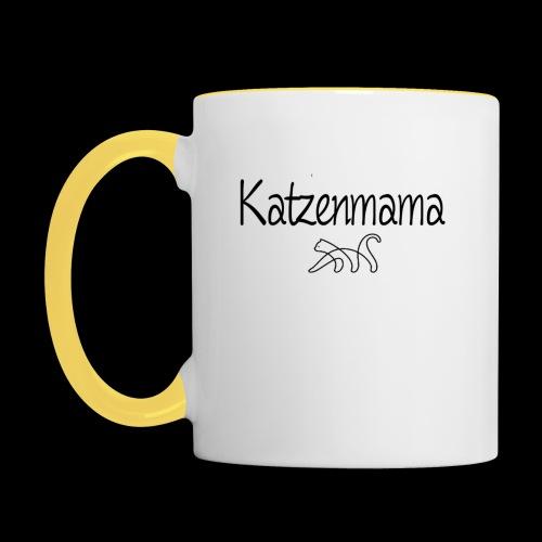 Katzenmama - Tasse zweifarbig