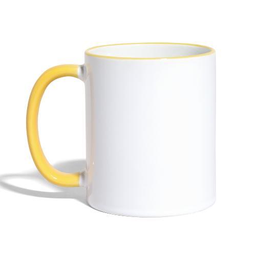 Ruhig bleiben und Deko-Bier bestellen Umhängetasc - Tasse zweifarbig