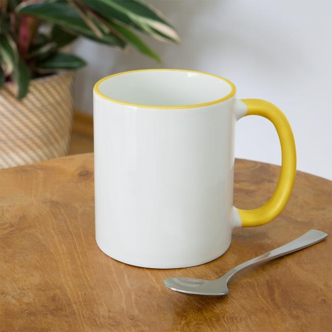 Vorschau: Bei da Oma schmeckts am bestn - Tasse zweifarbig