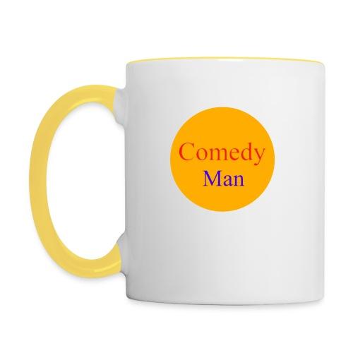 comedy man logo - Mok tweekleurig