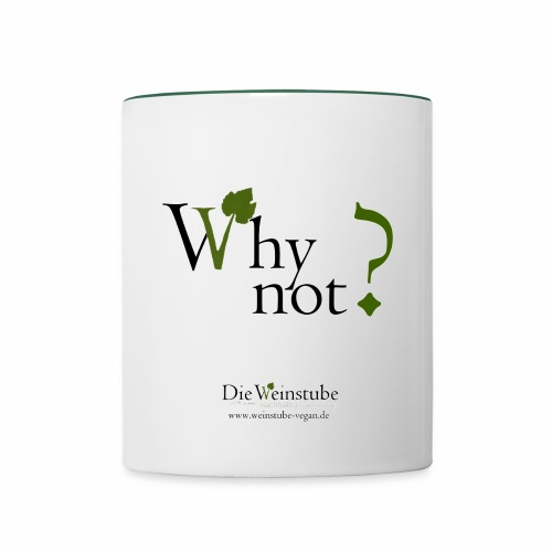Why not jpg - Tasse zweifarbig