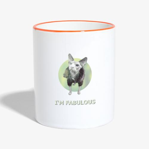 I'm fabulous with the Cat - Tasse zweifarbig