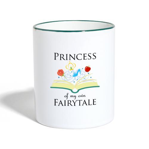 Princess of my own fairytale - Black - Contrasting Mug