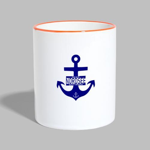 Nordsee Anker Meer geht immer - Tasse zweifarbig