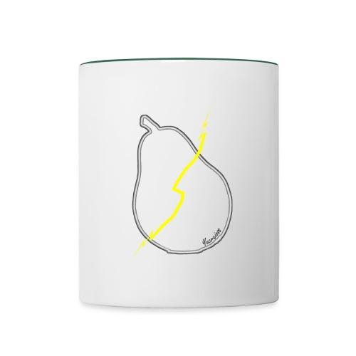 Bist Du eine? - Blitzbirnen Becher © by Yucreioss - Tasse zweifarbig