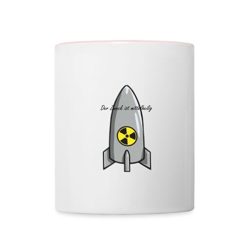 Rakete - Tasse zweifarbig