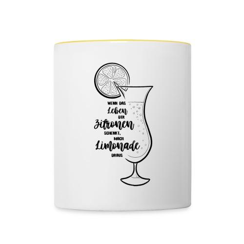 Wenn das Leben dir Zitronen schenkt - Illustration - Tasse zweifarbig