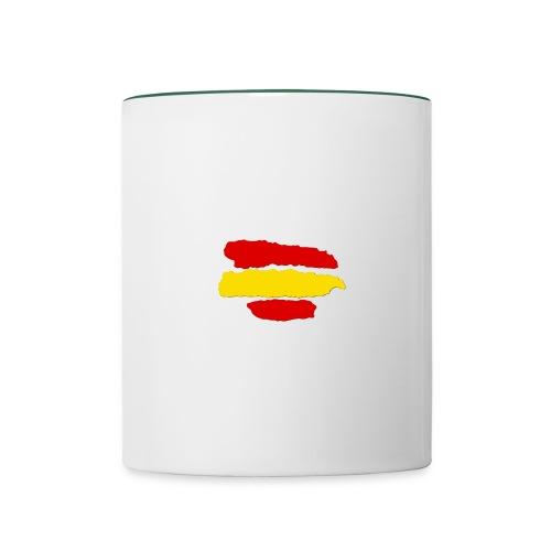 rayas de españa - Taza en dos colores