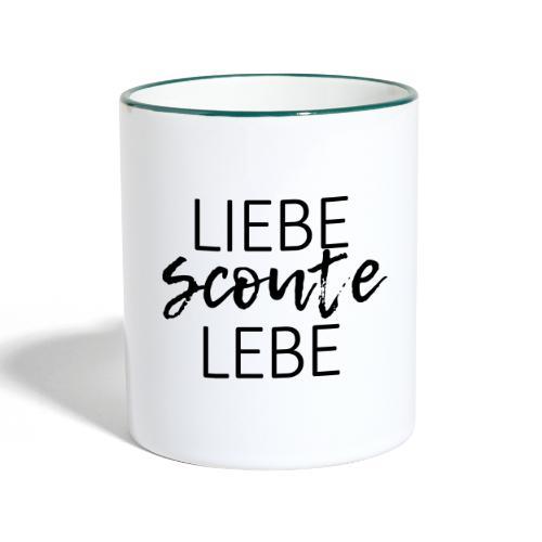 Liebe Scoute Lebe Lettering - Farbe frei wählbar - Tasse zweifarbig