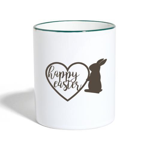 Happy Easter - Tasse zweifarbig