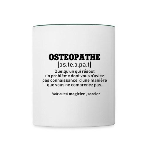 Définition OSTEOPATHE - Mug contrasté