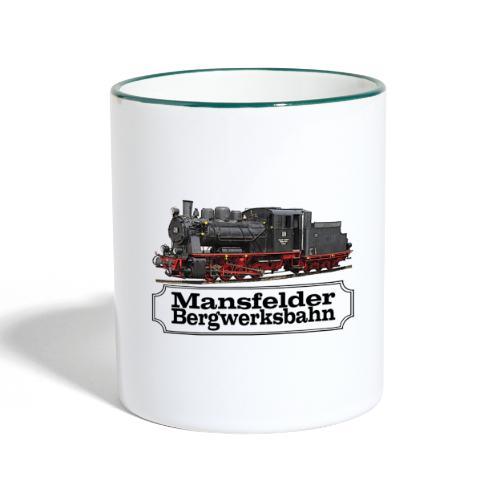 mansfelder bergwerksbahn dampflok 1 - Tasse zweifarbig
