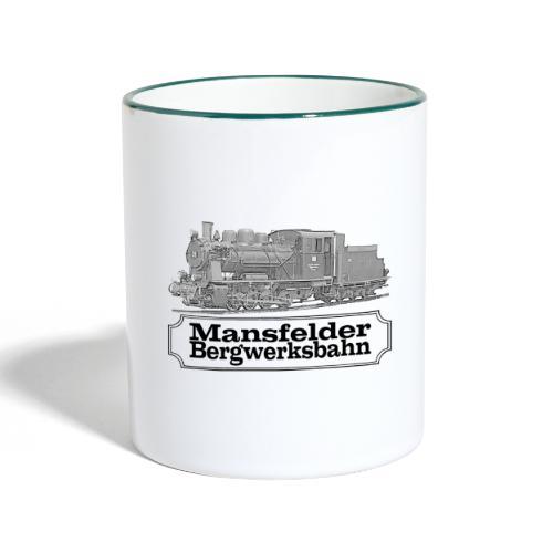 mansfelder bergwerksbahn dampflok 2 - Tasse zweifarbig