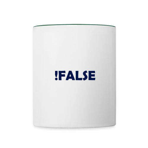 !False - Tasse zweifarbig