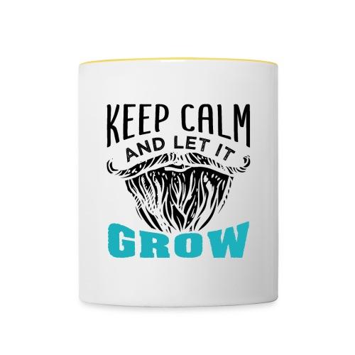 Beard Keep Calm And Let It Grow - Tasse zweifarbig