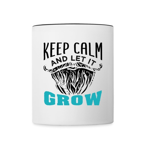 Beard Keep Calm And Let It Grow - Tasse zweifarbig