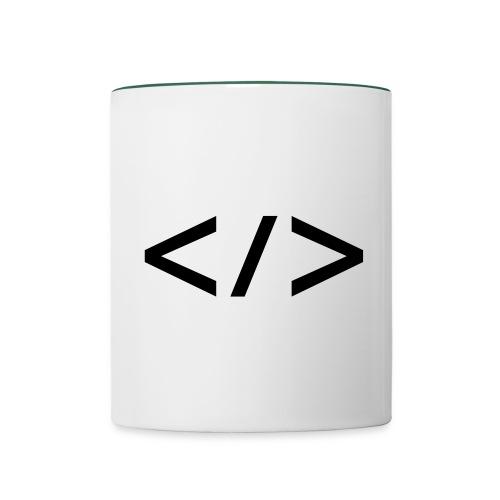 Webdev - Tasse zweifarbig