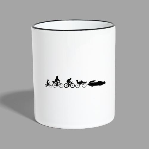 Bicycle evolution black Quattrovelo - Kaksivärinen muki