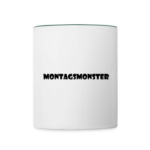 Montagsmonster - Tasse zweifarbig