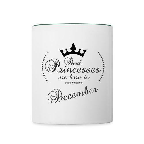 Real Princesses black December - Tasse zweifarbig