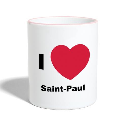 i love sainte paul - Mug contrasté