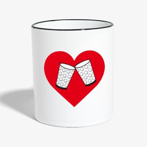 Schorle Liebe – Dubbegläser - Tasse zweifarbig