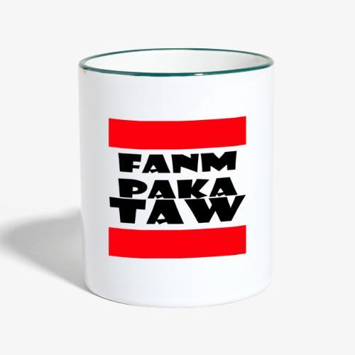fanm paka taw noir - Mug contrasté