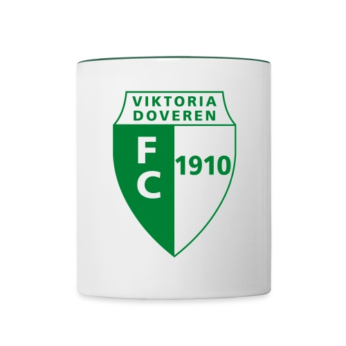 Logo grün - Tasse zweifarbig