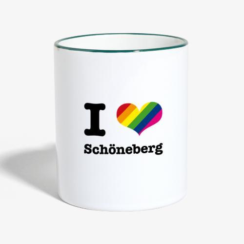 I love Schöneberg - Tasse zweifarbig