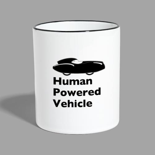 Quattrovelo Human Powered Vehicle black - Kaksivärinen muki