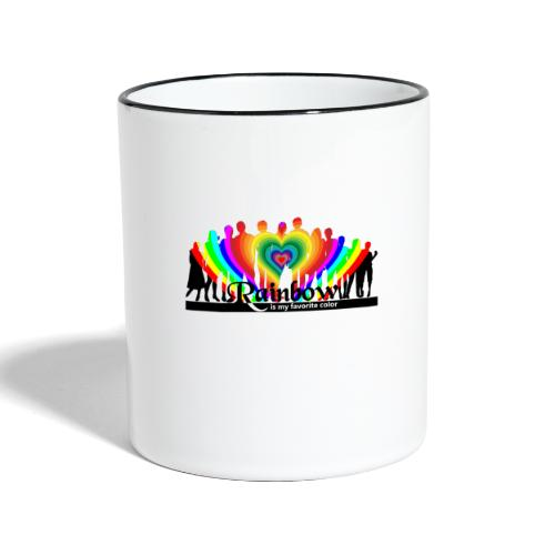rainbow is my favorite color - Tasse zweifarbig