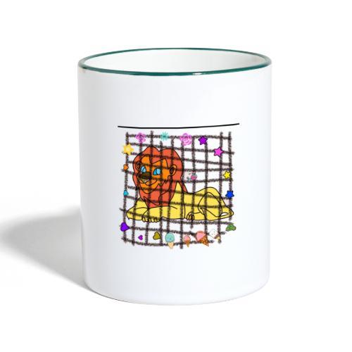 Lion dans son cage - Mug contrasté