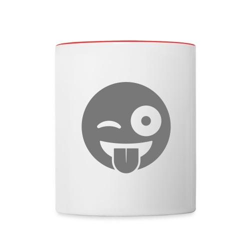 Emoji - Tasse zweifarbig