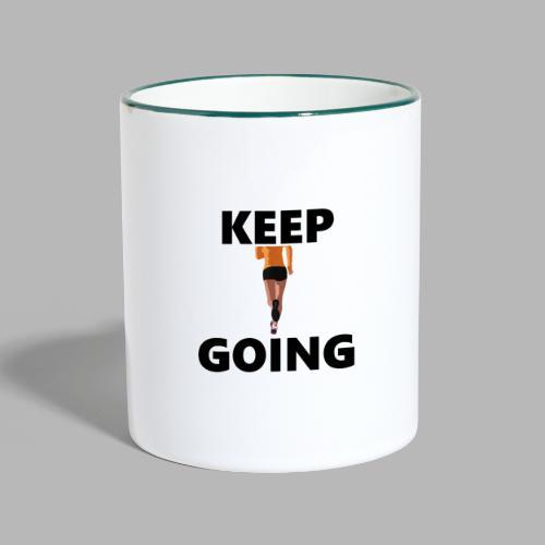 Keep going - Tasse zweifarbig