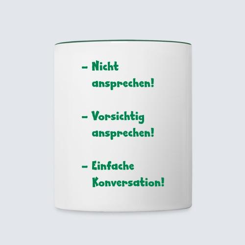 Kaffeejunky - sprich mich nicht an - Tasse zweifarbig