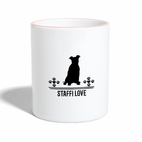 Staffi Stafford Staffordshire - Tasse zweifarbig
