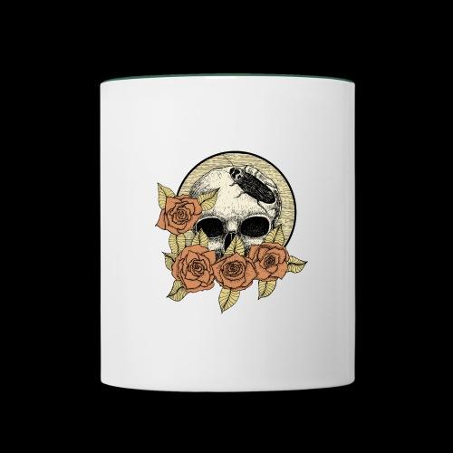 Rose et tête de mort - Mug contrasté