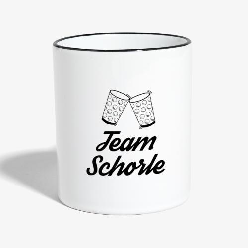 Team Schorle - Tasse zweifarbig