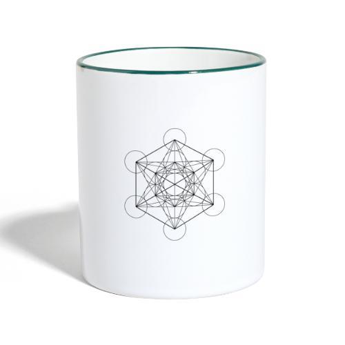 Metatrones Cube - Tofarvet krus