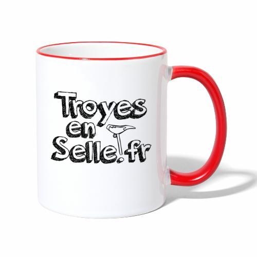 logo Troyes en Selle noir - Mug contrasté