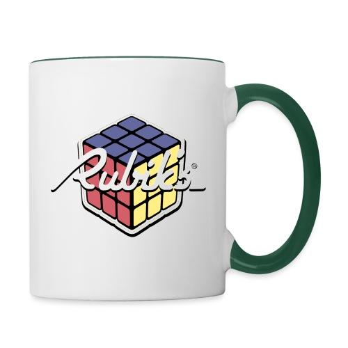 Rubik's Cube Retro Style - Contrasting Mug