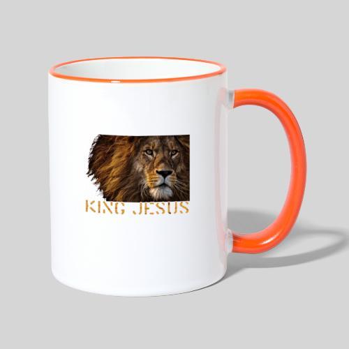 König Jesus der Löwe von Juda - Tasse zweifarbig