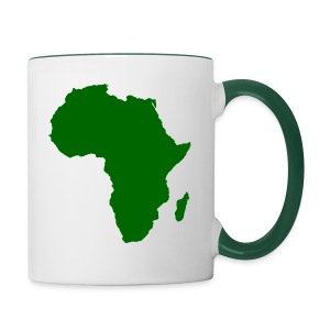 African styles green - Contrasting Mug