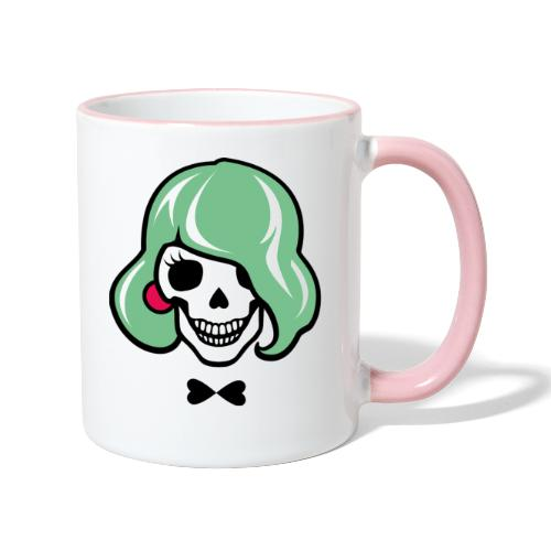 Sexy Totenkopf - Sharon Bone - Tasse zweifarbig