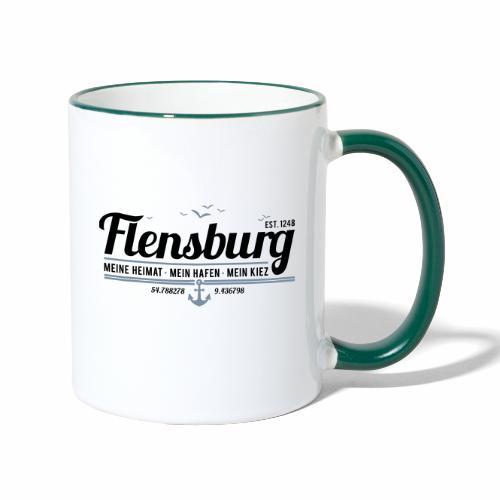 Flensburg - meine Heimat, mein Hafen, mein Kiez - Tasse zweifarbig