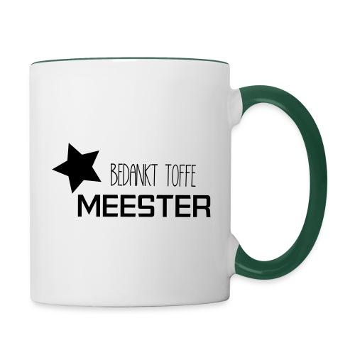 Bedankt toffe Meester - Mok tweekleurig