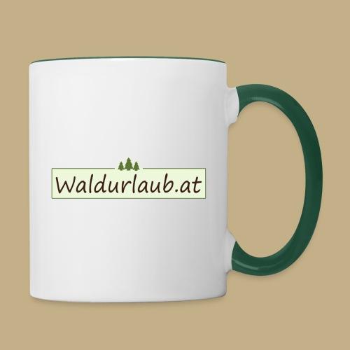 Waldurlaub - Tasse zweifarbig