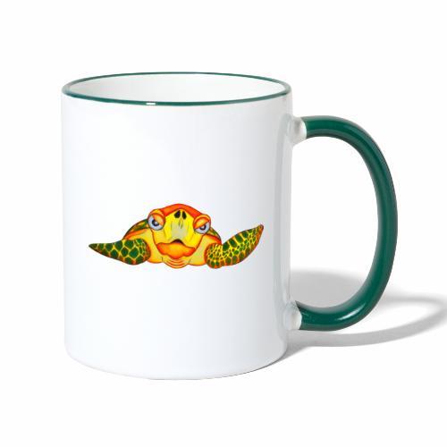 Boze Turtle Fluo - Mok tweekleurig