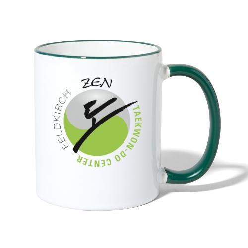 logo rund ohne weiss - Tasse zweifarbig